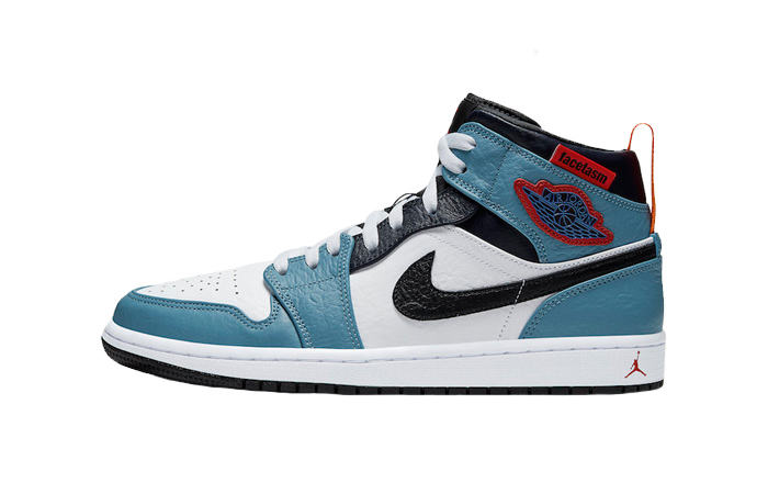 Facetasm Air Jordan 1 Mid Fearless Aqua White CU2802-100 01