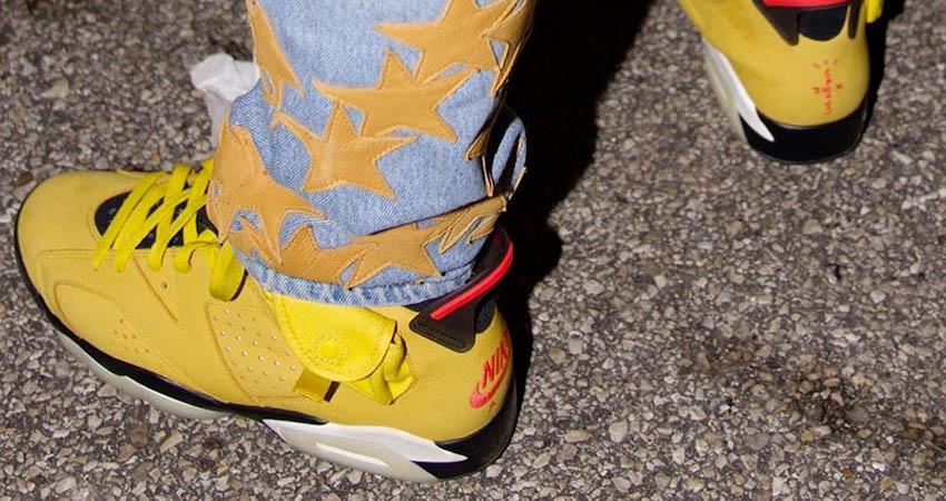 First Look At The Travis Scott Air Jordan 6 'Cactus Jack Yellow' 01