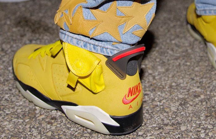 First Look At The Travis Scott Air Jordan 6 'Cactus Jack Yellow' ft