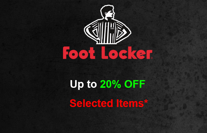 Footlocker Giving You Upto 20% On These Selected Items!! ft