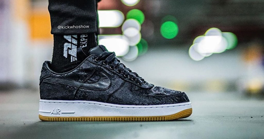 Fragment, CLOT And Nike Teamed Up For The Air Force 1 Black Silk 01