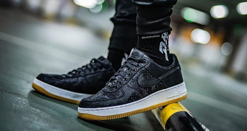 Fragment, CLOT And Nike Teamed Up For The Air Force 1 Black Silk 02