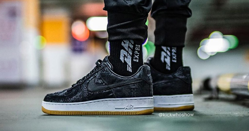 Fragment, CLOT And Nike Teamed Up For The Air Force 1 Black Silk 03