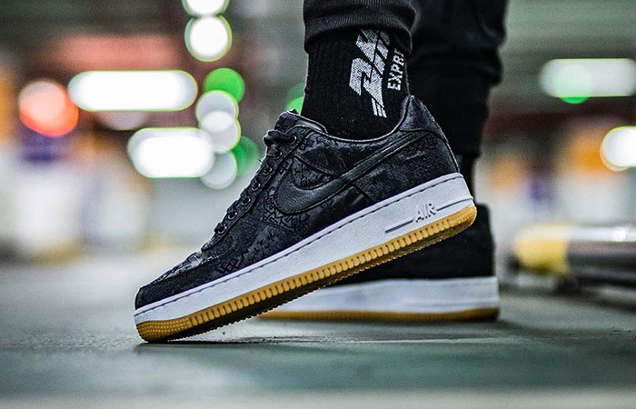 Fragment, CLOT And Nike Teamed Up For The Air Force 1 Black Silk ft