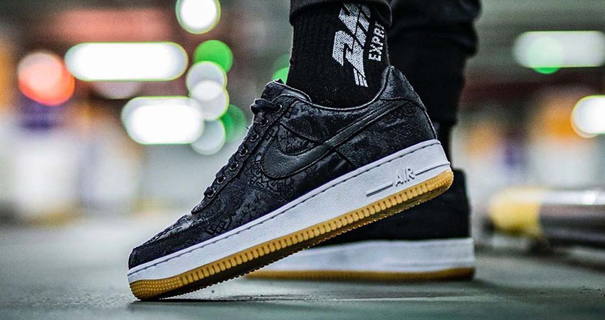 Fragment, CLOT And Nike Teamed Up For The Air Force 1 Black Silk