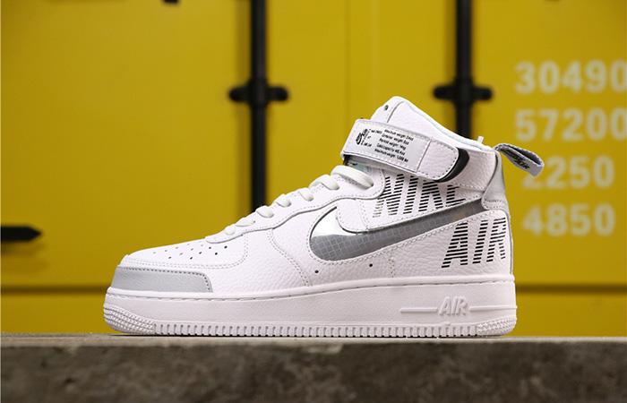 Nike Air Force 1 High Grey White CQ0449-100 02
