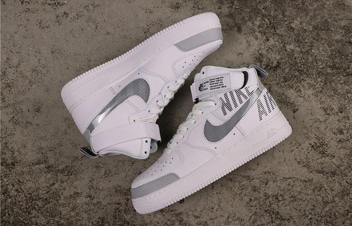 Nike Air Force 1 High Grey White CQ0449-100 03