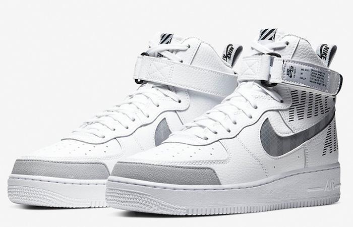 Nike Air Force 1 High Grey White CQ0449-100 05