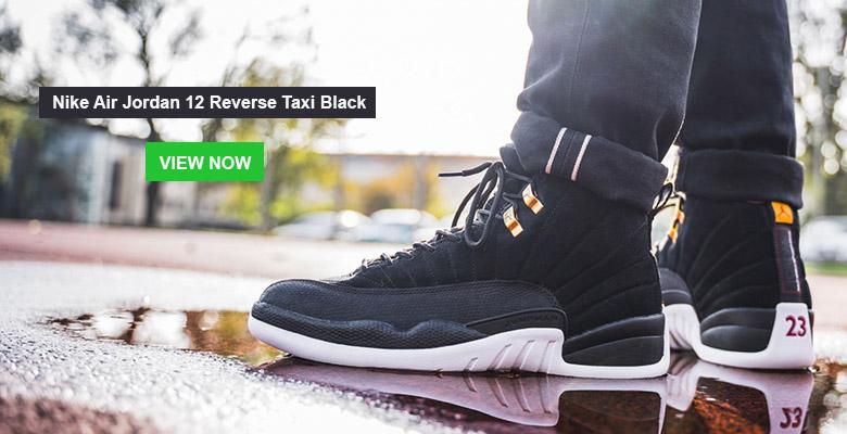 Nike Air Jordan 12 Reverse Taxi Black Slider