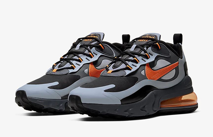 Nike Air Max 270 React Grey Orange CD2049-006 02