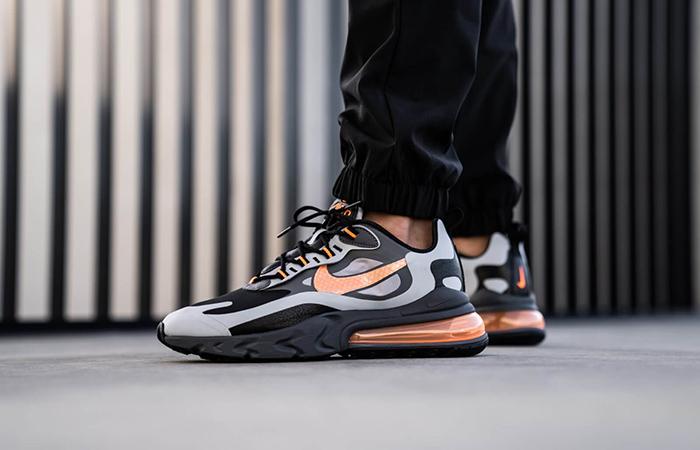 air max 270 react noir orange