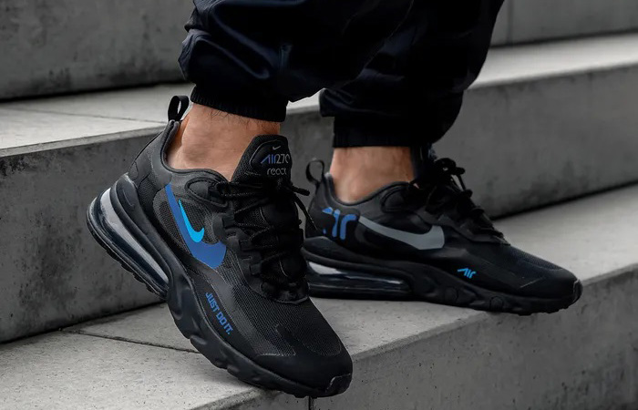 Nike Air Max 270 React Just Do It Black CT2203-001 on foot 01