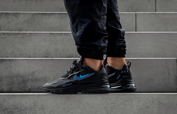 Nike Air Max 270 React Just Do It Black CT2203-001 on foot 02