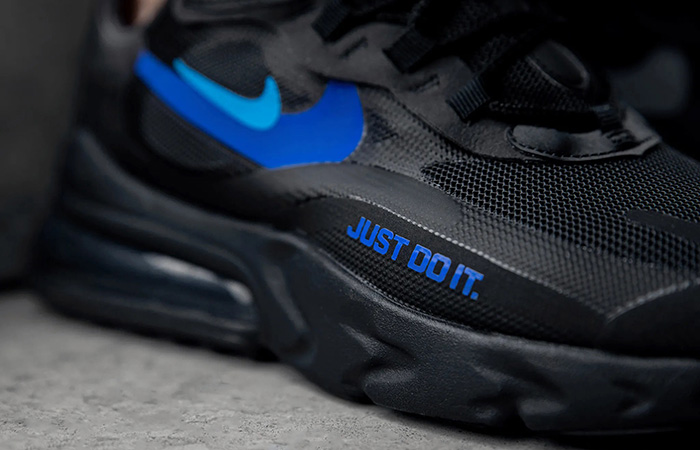 Nike Air Max 270 React Just Do It Black CT2203-001 on foot 03