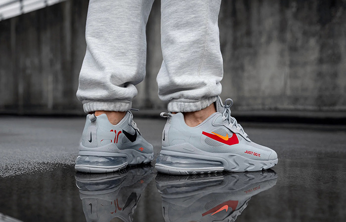 Nike Air Max 270 React Just Do It Grey CT2203-002 on foot 02