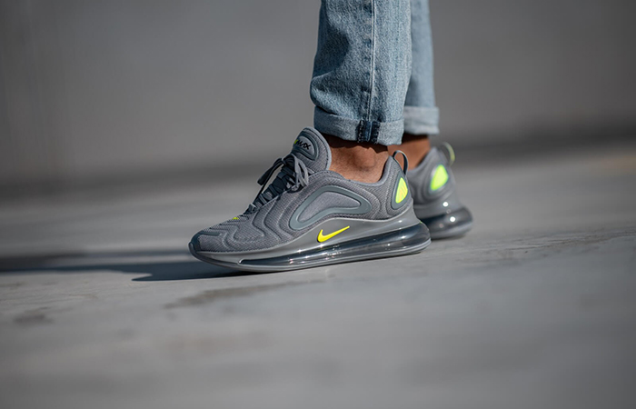 Nike Air Max 720 Grey Volt CT2204-001 on foot 01