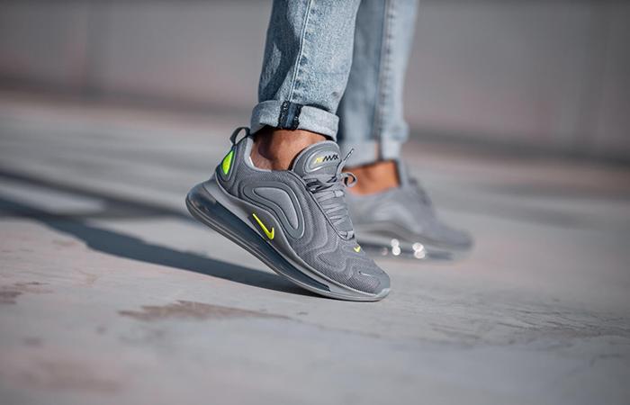 Nike Air Max 720 Grey Volt CT2204-001 on foot 02