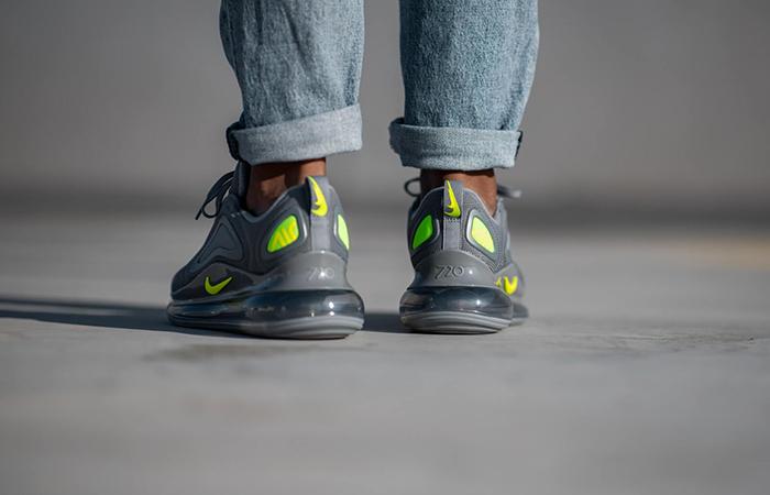 Nike Air Max 720 Grey Volt CT2204-001 on foot 03