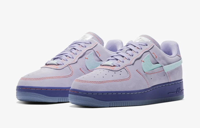 Nike Womens Air Force 1 07 LX Purple Agate CT7358-500 02