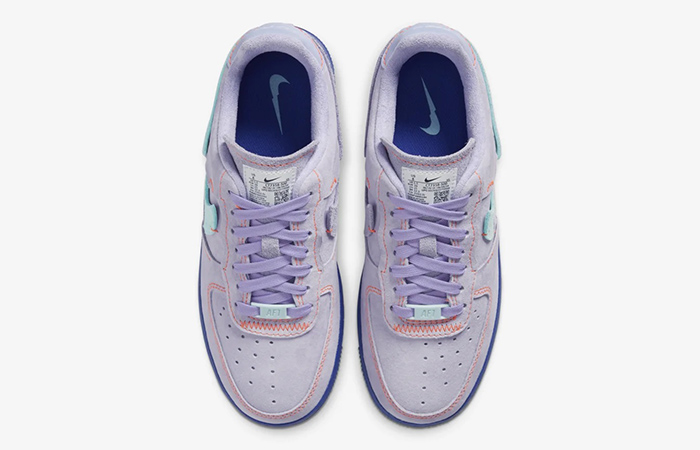 Nike Womens Air Force 1 07 LX Purple Agate CT7358-500 04