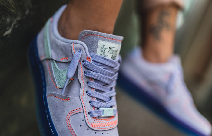 Nike Womens Air Force 1 07 LX Purple Agate CT7358-500 on foot 02