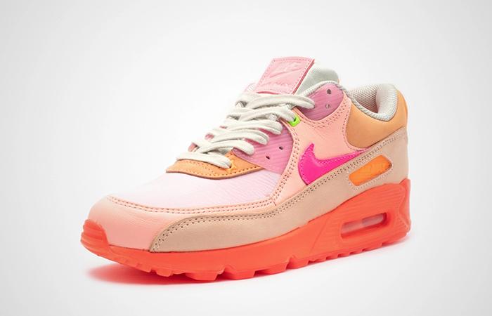 Nike Womens Air Max 90 Pink Shade CT3449-600 02