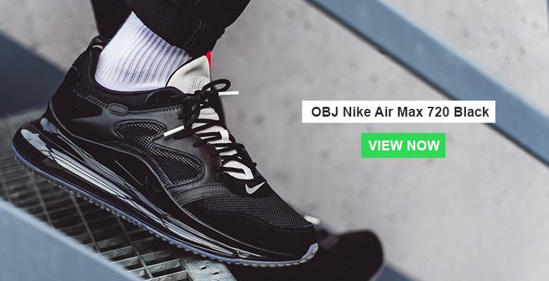 OBJ Nike Air Max 720 Black Slider