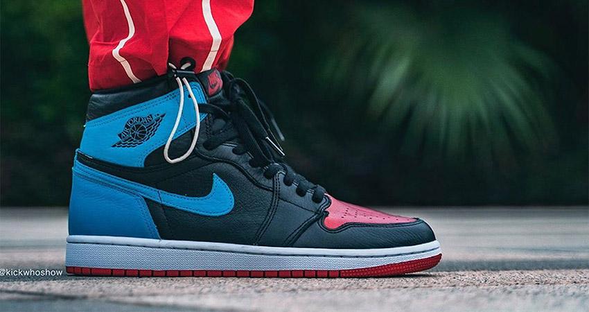 On Foot Images Of Nike Air Jordan 1 Retro High OG Blue Red 01
