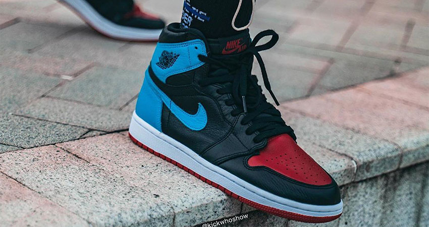 On Foot Images Of Nike Air Jordan 1 Retro High OG Blue Red 02