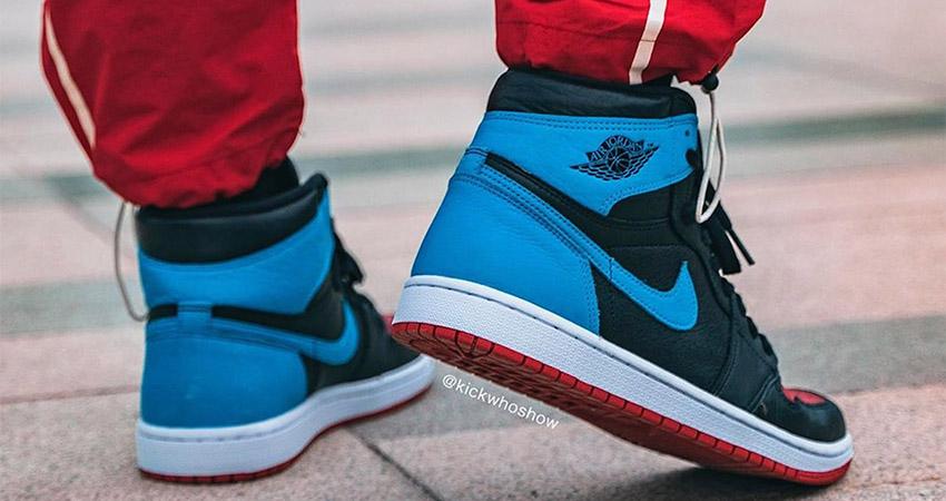 On Foot Images Of Nike Air Jordan 1 Retro High OG Blue Red 03
