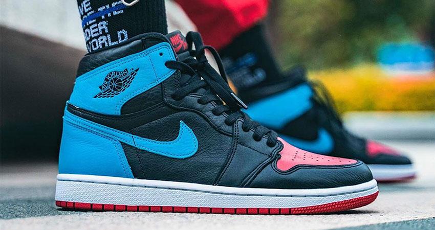 On Foot Images Of Nike Air Jordan 1 Retro High OG Blue Red