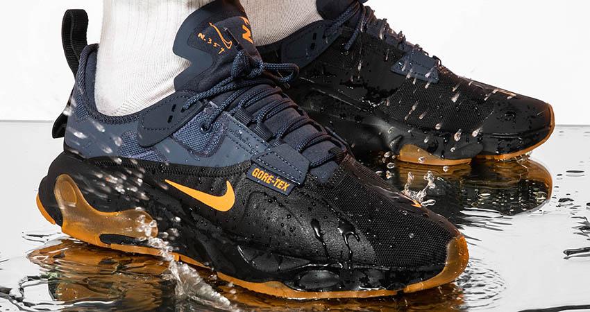 On Foot Look At The Upcoming Nike React-Type GTX Navy Orange