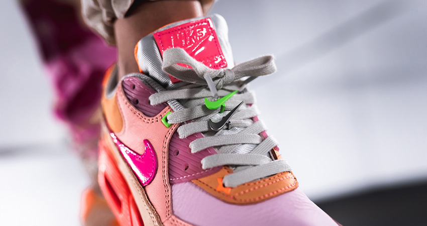 On Foot Look At The Upcoming Nike Womens Air Max 90 Pink Shade 02