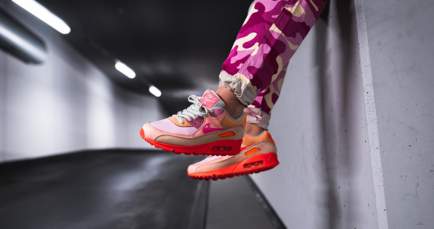 On Foot Look At The Upcoming Nike Womens Air Max 90 Pink Shade