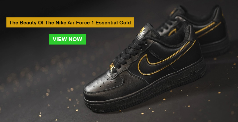 The Beauty Of The Nike Air Force 1 Essential Gold Slider
