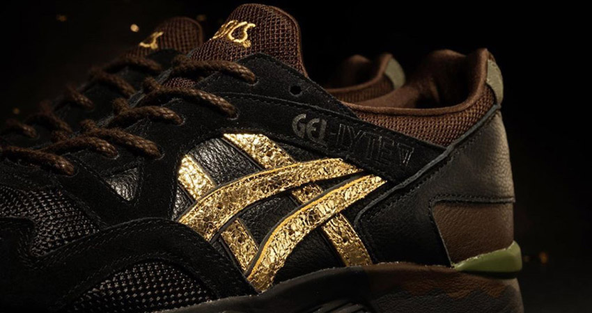 The Kicks Lab And Asics Gel Lyte 5 Kogane Releases With A Golden Shimmery Stripe 02