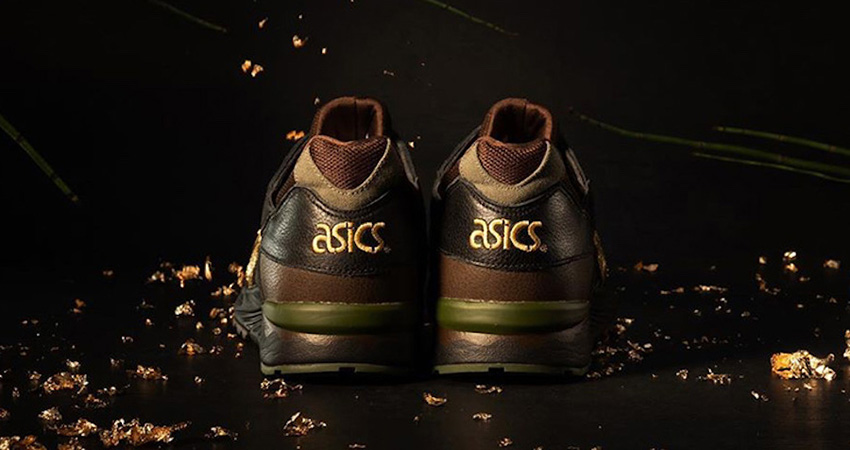 The Kicks Lab And Asics Gel Lyte 5 Kogane Releases With A Golden Shimmery Stripe 03