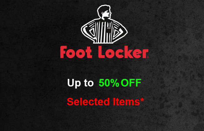 Upto 50% Off On Selected Items In Footlocker UK For A Very Short Time ft