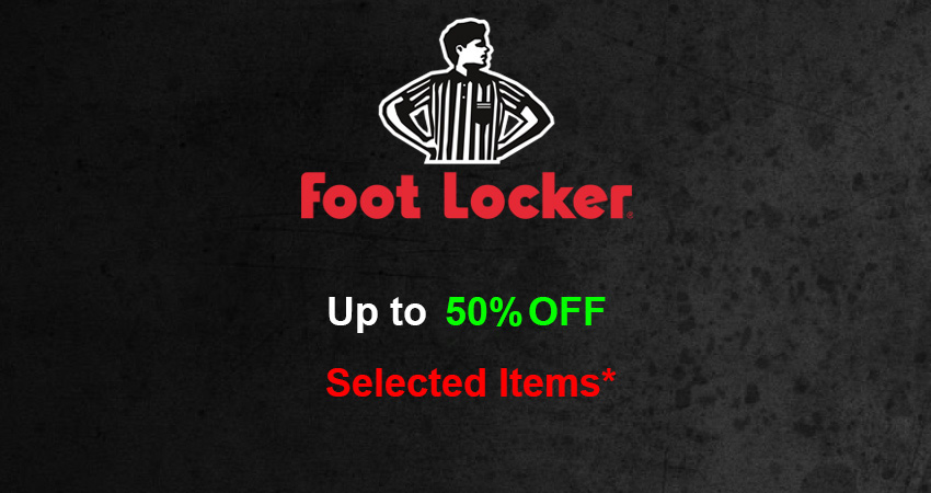 Upto 50% Off On Selected Items In Footlocker UK For A Very Short Time
