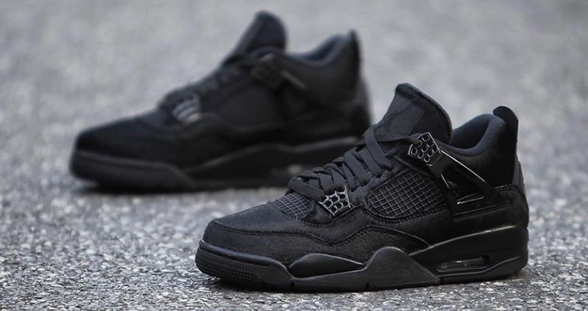 Your Best Look Yet At The Olivia Kim Nike Womens Air Jordan 4 Black 01