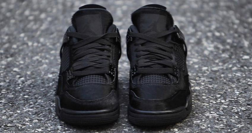 Your Best Look Yet At The Olivia Kim Nike Womens Air Jordan 4 Black 02