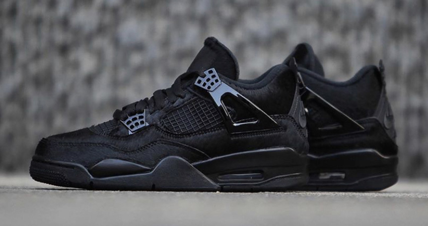 Your Best Look Yet At The Olivia Kim Nike Womens Air Jordan 4 Black
