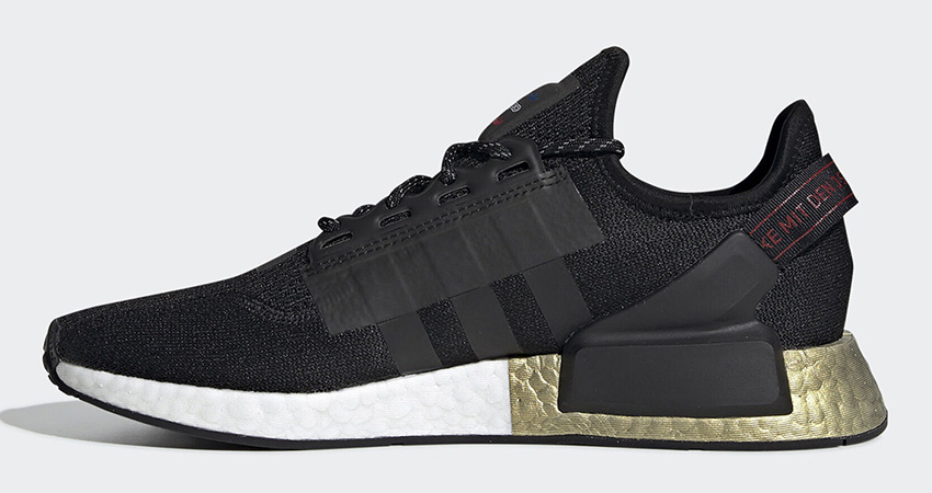 adidas NMD R1 V2 Celebrates The End Of Year With The Black Metallic Gold