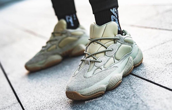 adidas Yeezy Boost 500 Stone FW4839 on foot 01