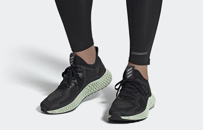 adidas alphaedge 4D Parley Black Mint FV4686 on foot 01