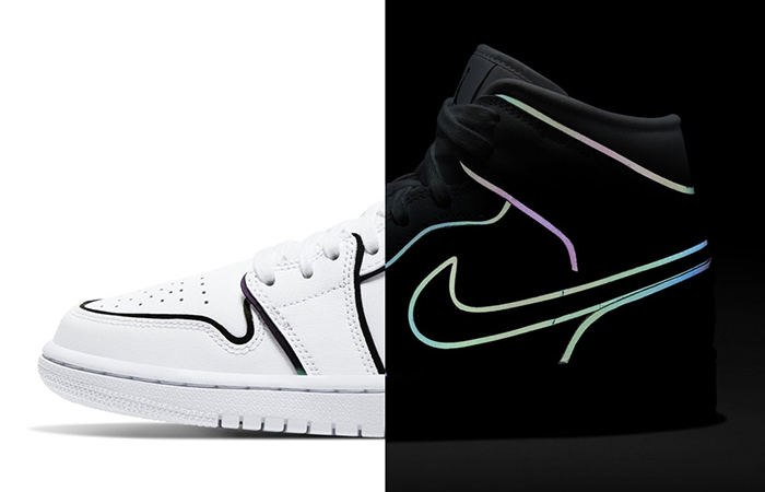 Air Jordan 1 Mid SE Pack Features With Reflective Border ft