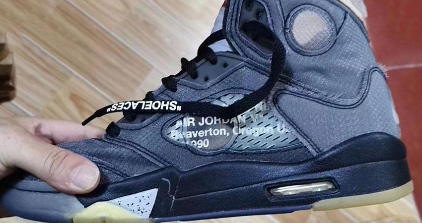 Detailed Look At The Off-White Air Jordan 5 Black 02