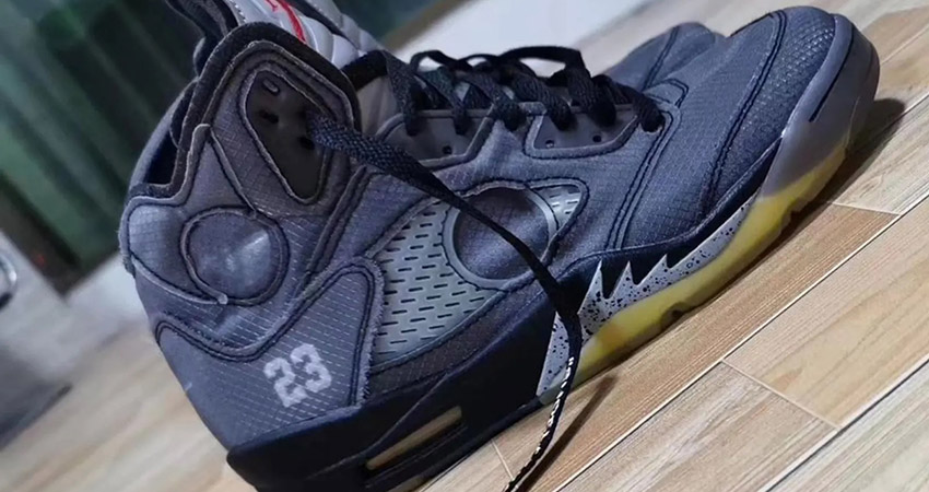 Detailed Look At The Off-White Air Jordan 5 Black