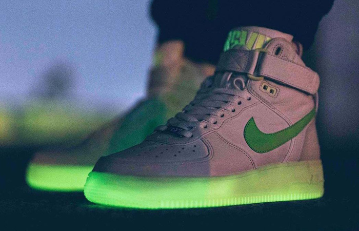 First Look At The RSVP Gallery Nike Air Force 1 High Green Volt ft