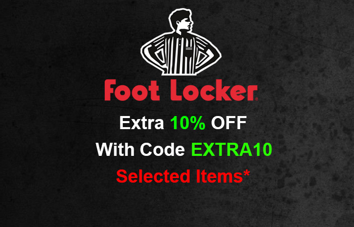 Get Extra 10% Off And Celebrate Footlocker's Cyber Monday Sale!! ft